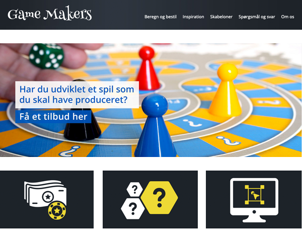 Game Makers - Hjemmeside fra SiteNow